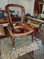 Victorian Nursing Chair with spindle replaced and joints tightened