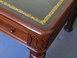 Victorian Library Table, cleaned, repolished and with new leather skiver