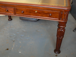 Victorian Library Table with broken leg repaired