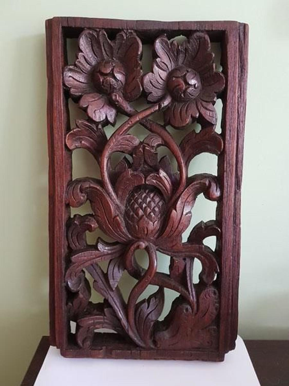 Early seventeenth century carved oak panel