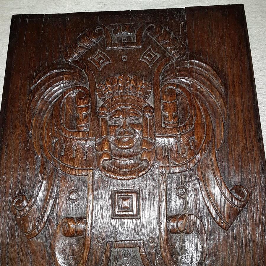Oak carved Coffer Panel