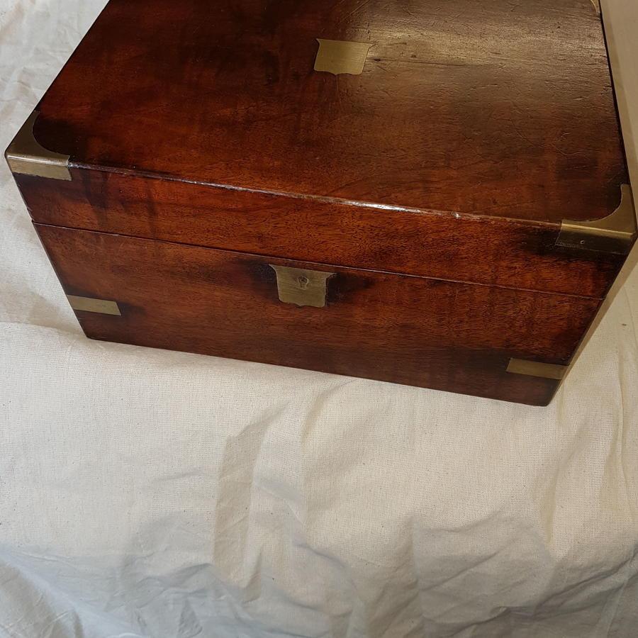 19th century mahogany writing slope